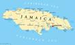 Jamaica Political Map - 81138201