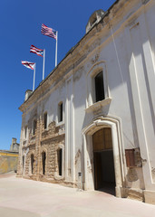 Facade of the palace at Castillo San Christobal.