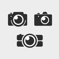Logo Photos, Camera logo vector set. Trendy flat Hipster camera