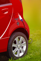 Electric car filling