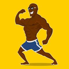 Athlete posing