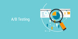 AB testing A?B split comparison web conversion test - 81141285