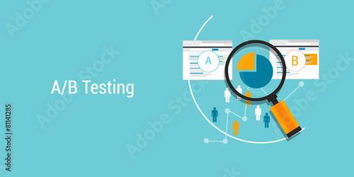 Fototapeta AB testing A?B split comparison web conversion test