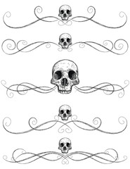 Sketchy skull page rules