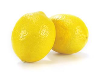 Lemon isolated on white background