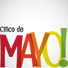 Bright typographic Cinco de Mayo card in vector format.