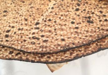 Jewish Holidays  Traditional Matzot on Passover Seder Table