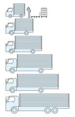 引越しや運送の貨物トラックの大きさ
