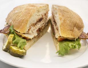 Ciabatta bread BLT Sandwich