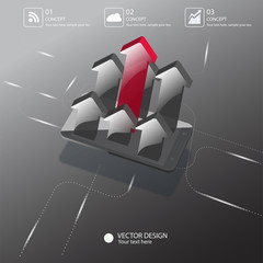 Vector for presentation , growth concept or leader