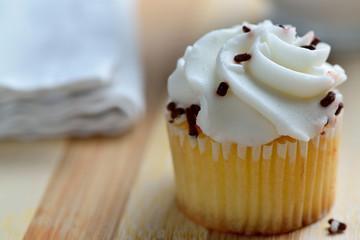 Homemade Gourmet Chocolate and Vanilla Cupcakes