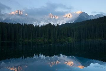 Lago di Carezza early morning