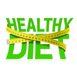 Healthy diet phrase with measuring tape concept - 81145699