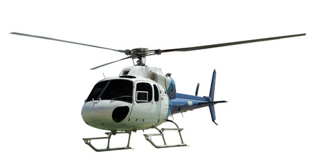 Multi-engine helicopter with working propeller