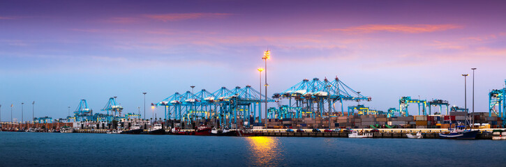 Port of Algeciras - one of  largest ports in Europe