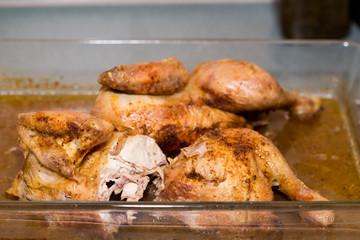 Roasted Chicken on pan