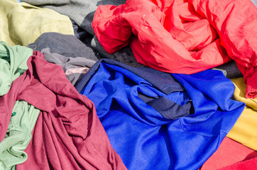 Clothes on a market stall