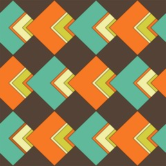 lozenge pattern as from the 70s - Rautenmuster 70er Jahre