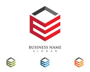 E Building property Logo Template 1