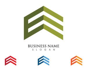 E Building property Logo Template 3