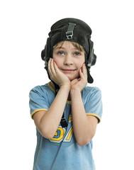 Boy in helmet