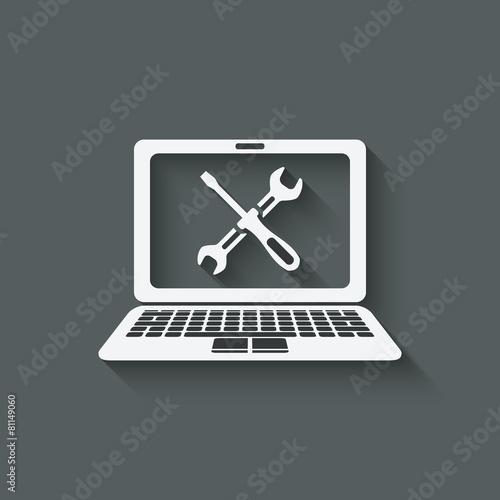 computer repairs symbol - 81149060