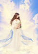 Pregnancy Maternity Beauty Concept, Pregnant Holy Woman, Mother