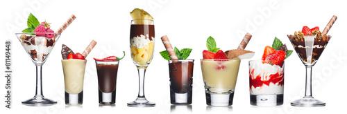 Poster Parfait-layered desserts
