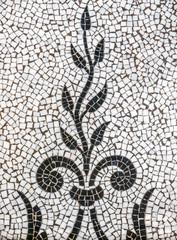 Ancient Plant Mosaic Tile Pattern