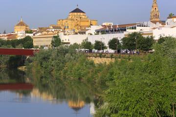Cathedral Mezquita, Guadalquivir river, Cordoba, Andalusia