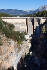 Day view of dam at Guadalentin river.  Andalusia