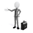 3d man, businessman on white background