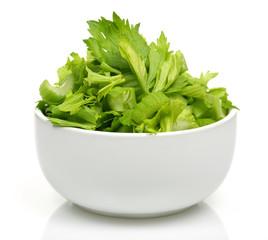 A bowl of celery