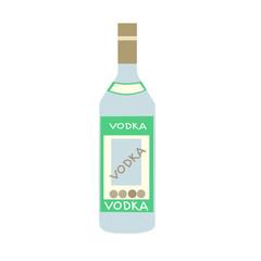 Stylized bottle of Russian vodka
