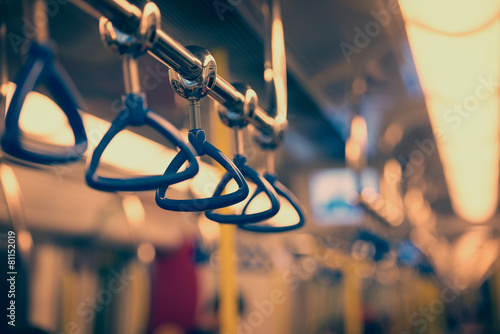 Handrails in a subway car - 81152019