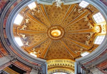 Rome interior in church saint Andrea al Quirinale