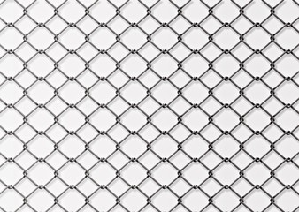 mesh wire for fencing on a white background