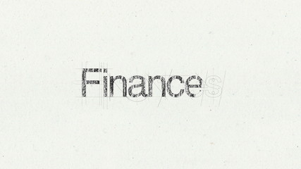 Text animation 'Finances' for presentations(included Alpha)