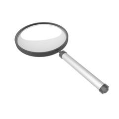 Vergrootglas geïsoleerd object