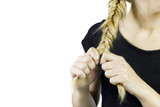 Fishtail braid hairstyle poster