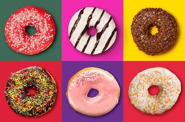 Donut. Pink Iced Doughnut