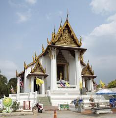 Wat Na Phra Mane  Thai temple at Ayutthaya Thailand