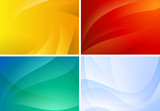 Fototapety Set of abstract backgrounds