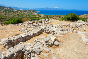 Old stones of Gournia. Crete, Greece