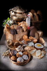 Still Life WIth Bread And Old Water Boiler