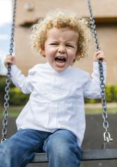 Blond child portrait