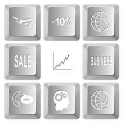 airliner, -10%, globe and array up, sale, diagram, business, sup