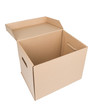 Leinwanddruck Bild - Brown Carton Box Isolated on white