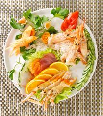 Antipasto di pesce e verdure