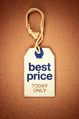Best Price Today Only Vintage Tag Label